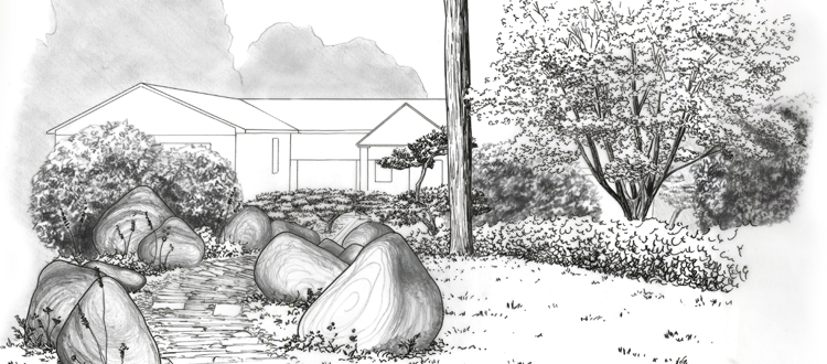 Paysagiste designer dessin et conseil d 39 am nagement for Croquis jardin paysager