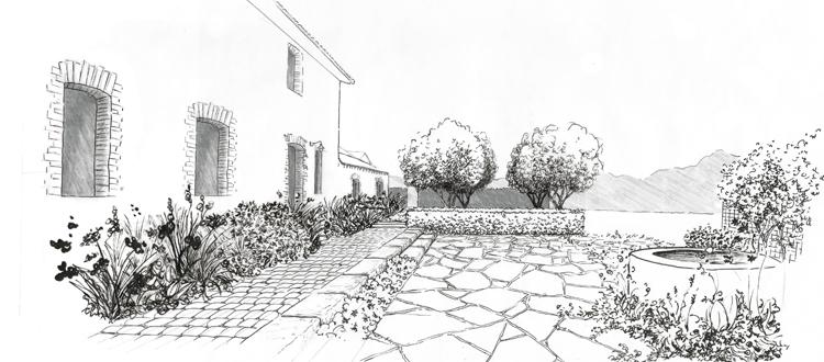 paysagiste designer dessin et conseil d 39 am nagement jardin parc terrasse patio sous bois. Black Bedroom Furniture Sets. Home Design Ideas