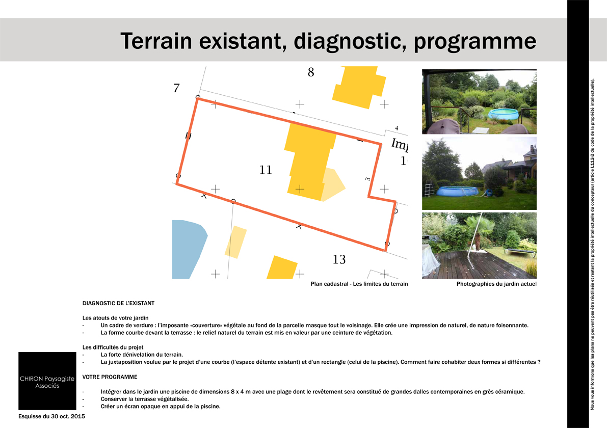 photo terrain existant avant explication proposition plan amenagement jardin