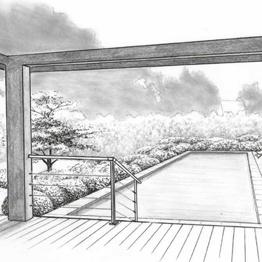 amenagement piscine une vegetalisation forte pour amoindrir le mineral. Black Bedroom Furniture Sets. Home Design Ideas